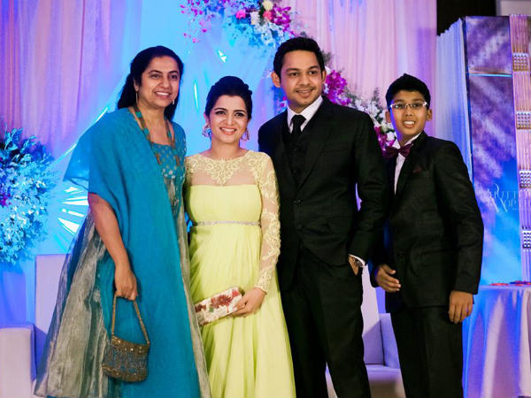 Suhasini At Divyadarshini's Wedding Reception