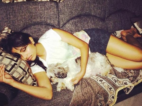 Amala Paul's Pet Dog