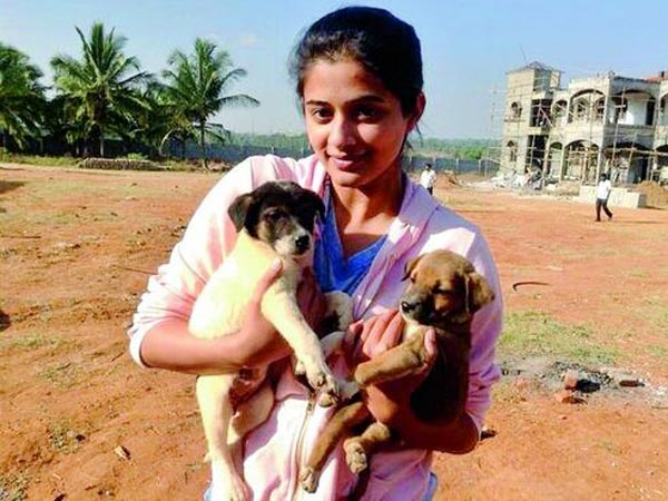 Priyamani's Pet Dog