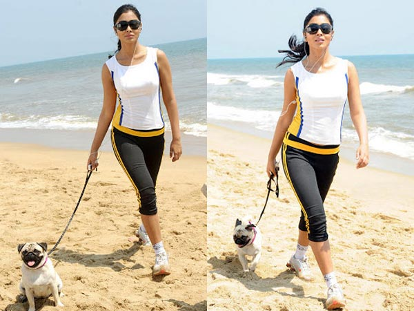 Shriya Saran's Pet Dog