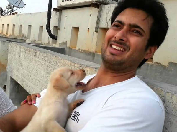 Uday Kiran's Pet Dog