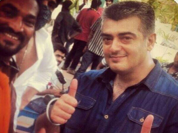 Ajith On 'Thala 55' Sets