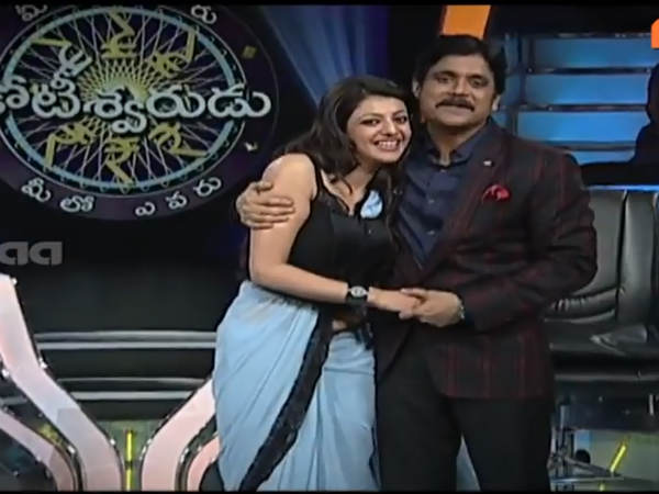 Kajal Hugs Nagarjuna On MEK