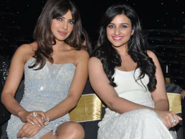 Priyanka Chopra with cousin Parineeti Chopra