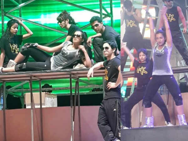 Catherine's Rehearsal For 61st South Filmfare Awards Show