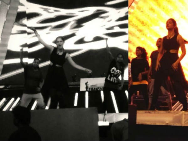 Shruti Hassan Rehearses For Filmfare