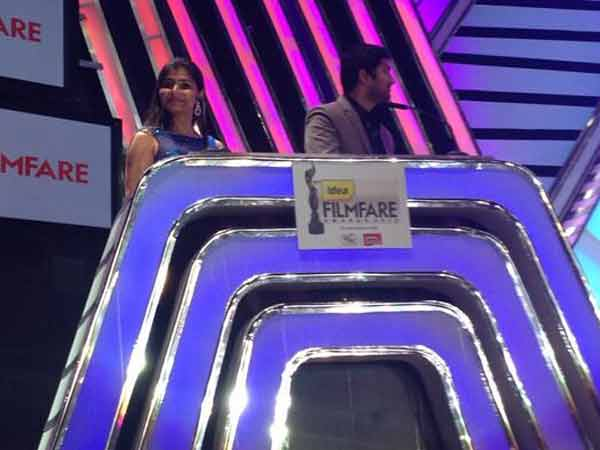 Chinmayi-Rahul Hosting 61st Filmfare Awards