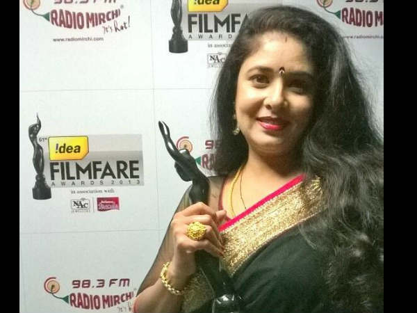 Best Kannada Supporting Actress Filmfare Award
