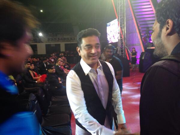 Kamal Hassan On Red Carpet At 61st South Filmfare Awards