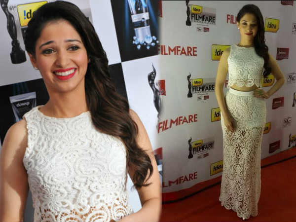 Tamanna On Red Carpet At 61st South Filmfare Awards