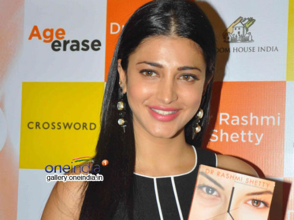 Gorgeous Shruti Hassan At 'Age Erase' Book Launch