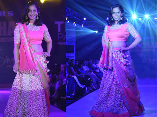 Saina Nehwal At Teach For Change Fashion Show