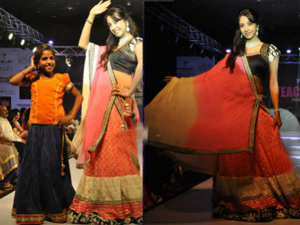 Sanjana At Teach For Change Fashion Show