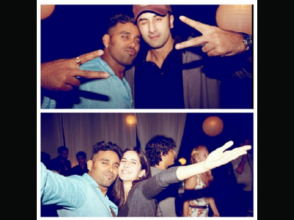 Katrina And Ranbir At Birthday Party