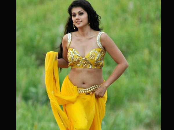 Taapsee In Yellow Saree