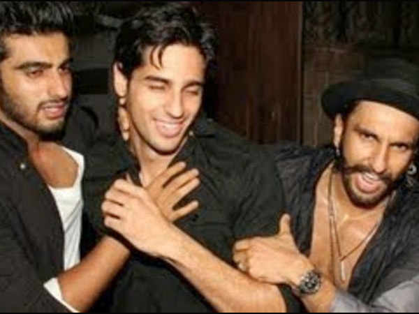 Arjun, Sidharth And Ranveer