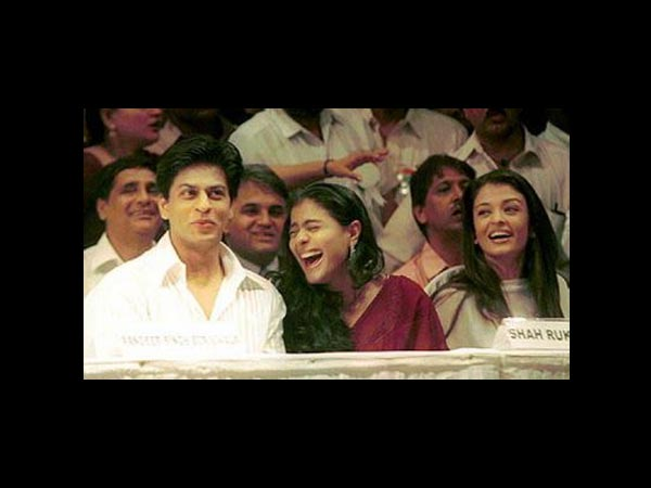 SRK, Kajol and Ash