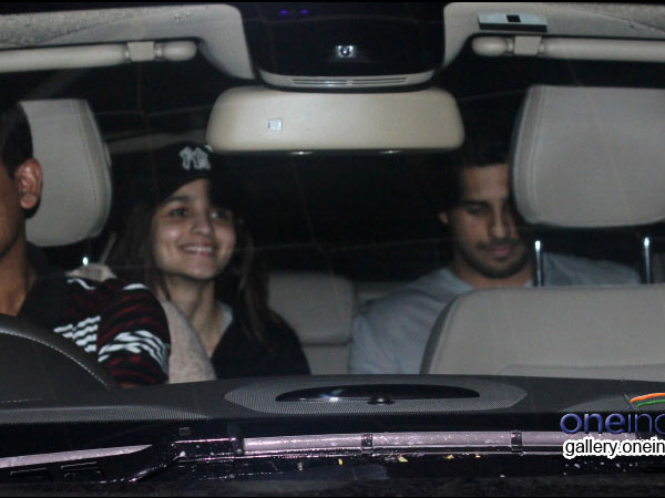 Alia And Sidharth Arrive Together