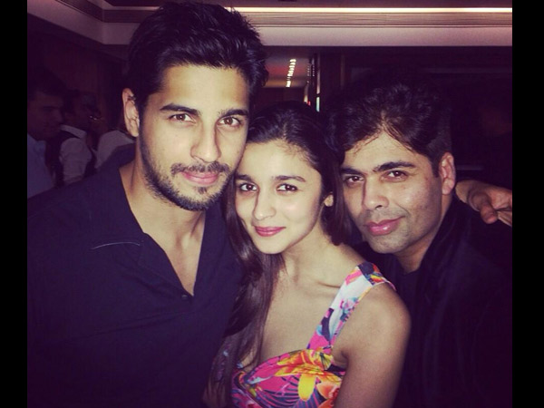 Sidharth, Alia and Karan