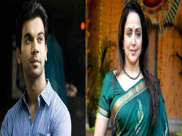 Rajkummar Rao and Hema Malini
