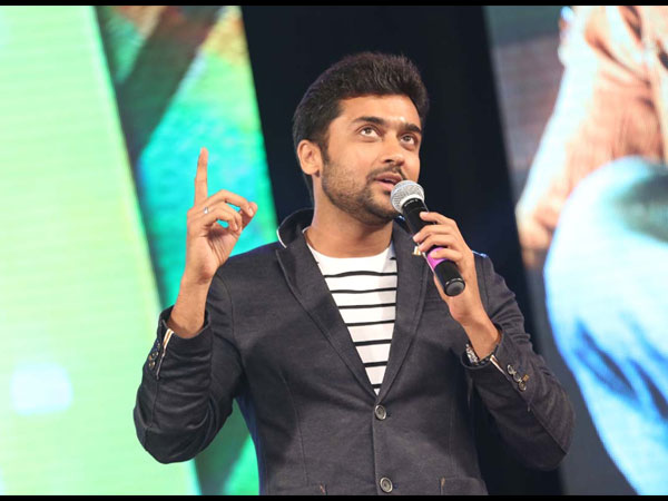 Surya Addresses Gathering Sikander Music Launch