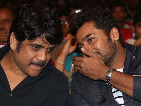 Nagarjuna-Surya's Bonding At Sikander Music Launch