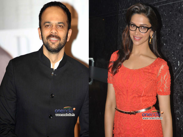 Rohit Shetty and Deepika Padukone
