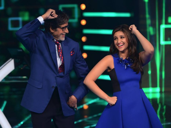 Amitabh Bachchan Smitten By Parineeti Chopra During Daawat-E-Ishq Promotion On KBC 8!