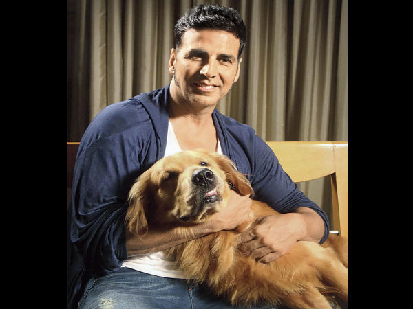 Akshay Kumar Loves His Dog