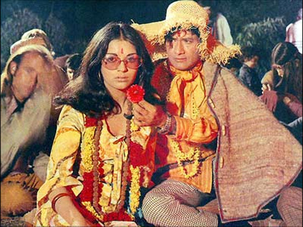 Dev Anand and Zeenat Aman