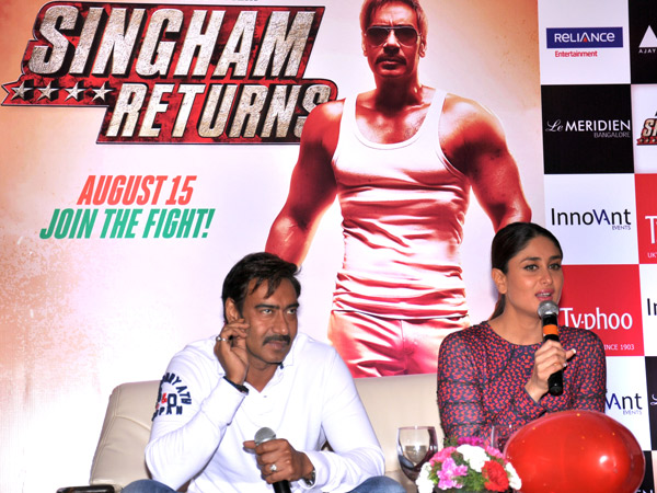 Kareena and Ajay in Le Meridian