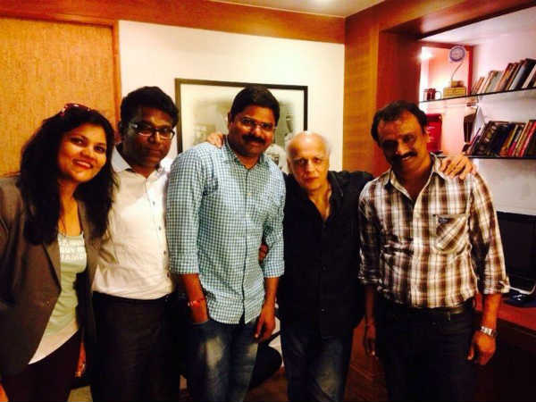 Mahesh Bhatt With Maaya Team
