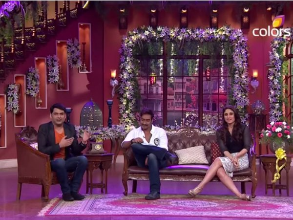 Ajay And Kareena On Comedy Nights With Kapil