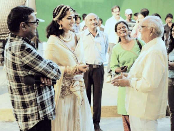 Late ANR On Rudramadevi Set