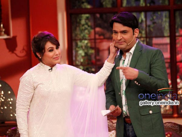 Rani Mukherjee Pinching Kapil Sharma