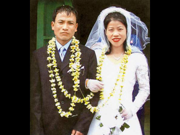 Mary Kom and her husband Onkholer