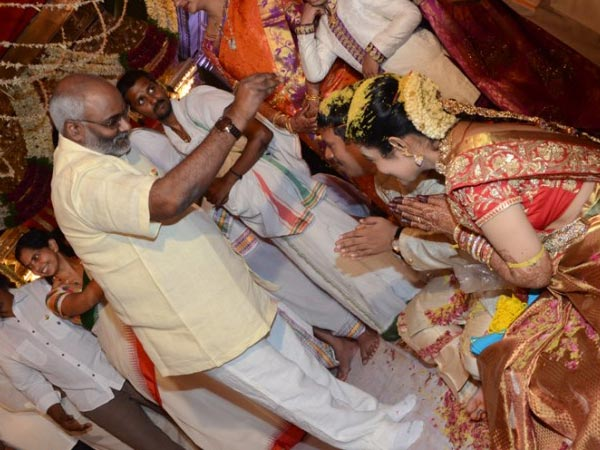 Keeravani At Nandamuri Mohan Krishna's Daughter Wedding