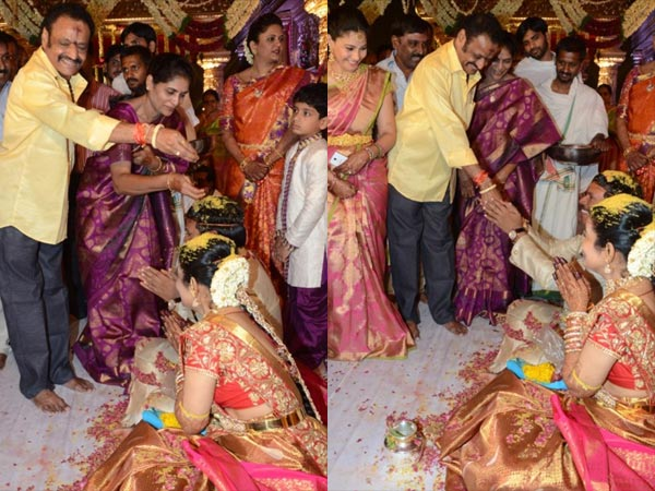 Harikrishna At Nandamuri Mohan Krishna's Daughter Wedding