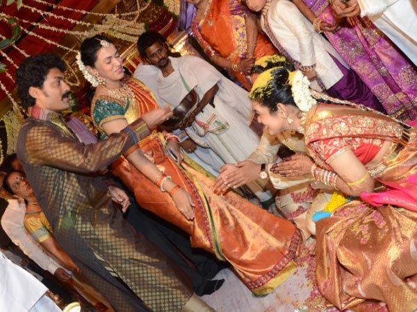 Kalyan Ram At Nandamuri Mohan Krishna's Daughter Wedding