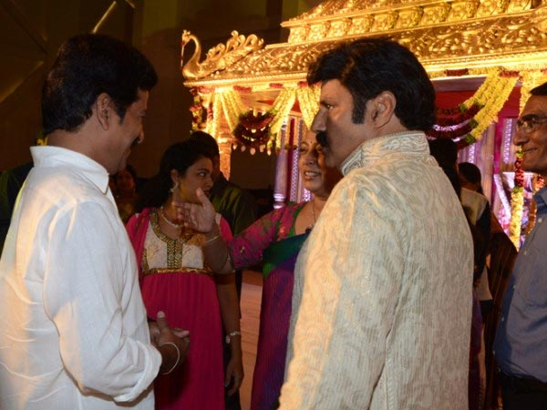 Brahmaji At Nandamuri Mohan Krishna's Daughter Wedding