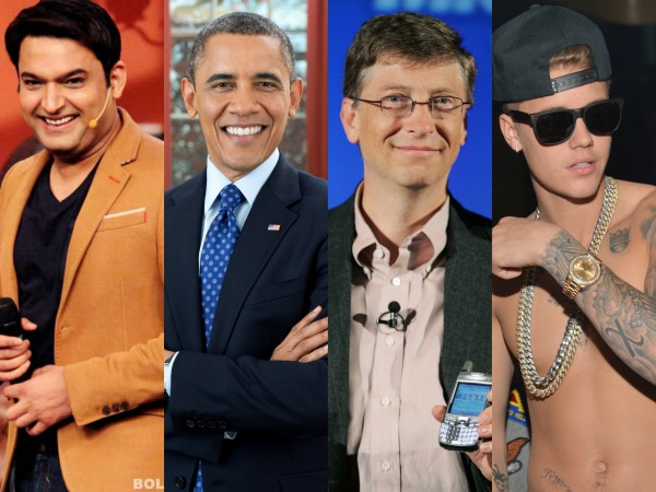 What's Common Between Kapil Sharma, Barack Obama, Bill Gates And Justin Bieber?