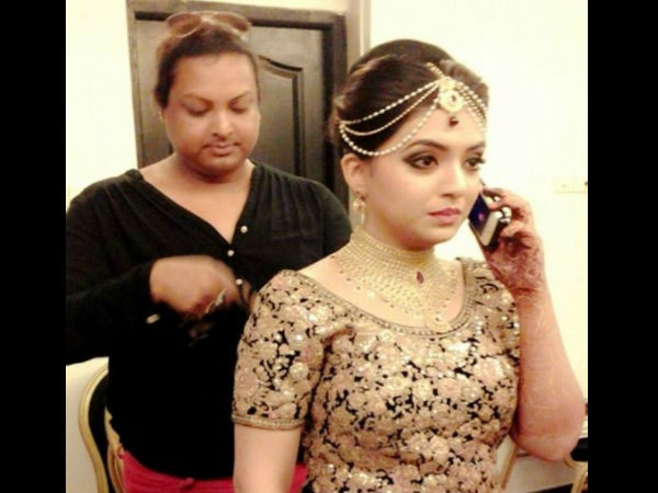 Bride Gets Ready