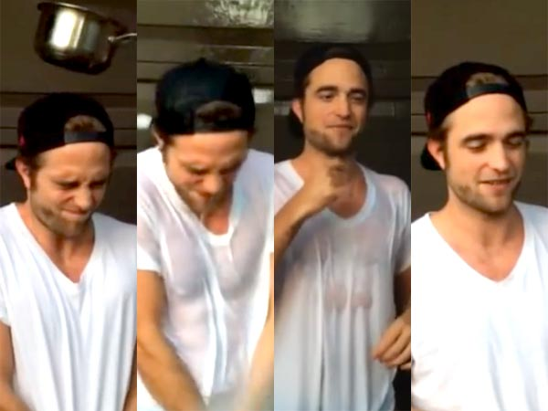 Robert Pattinson Takes Ice Bucket Challenge, Looks Breathtaking!