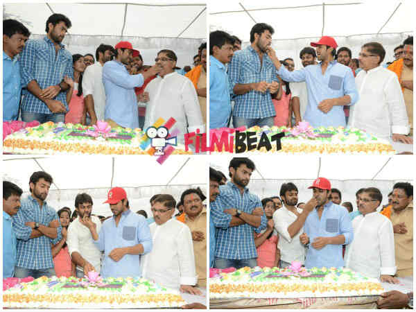 Ram Charan Shares Cake With Cousin