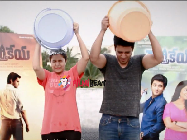 Nikhil, Swathi Take ALS Ice Bucket Challenge