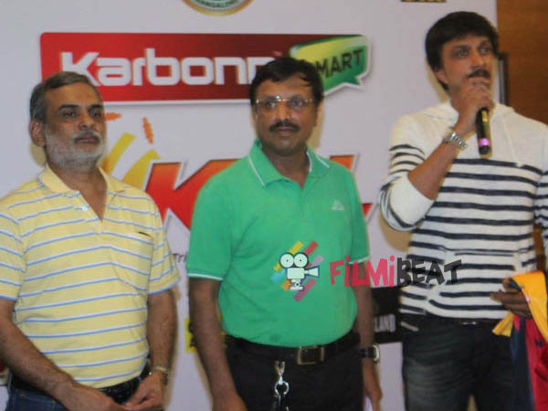 Sudeep at the launch ceremony