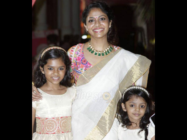 Poornima With Daughters