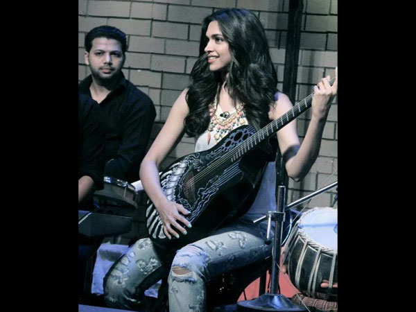 Deepika With A Guitar