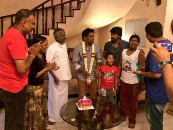 Yuvan With Family Members
