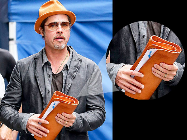 Newly Wed Brad Pitt Flashes His Wedding Ring In NYC